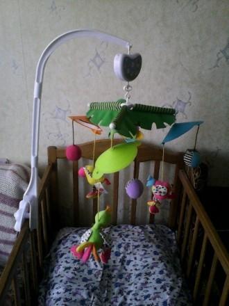 Мобиль на кроватку Biba Toys, мягкие птички с мячиками, спокойная мелодия, враща. Кременчук, Полтавська область. фото 2