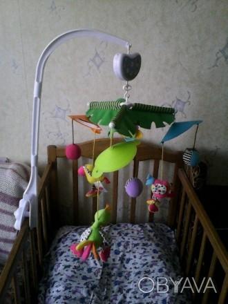 Мобиль на кроватку Biba Toys, мягкие птички с мячиками, спокойная мелодия, враща. Кременчук, Полтавська область. фото 1