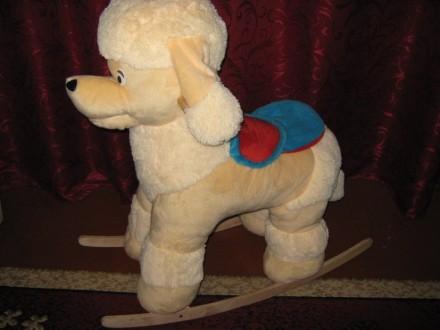 Детская собака-качалка. Марганец. фото 1