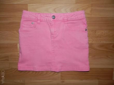 Продам джинсовую мини-юбку Lemmi на р.134-140 (по бирке 134, но подойдёт и на бо. Южный, Одесская область. фото 1