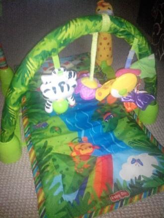 """Продам развивающий детский коврик """"Джунгли"""" , 6м + музыкальный две игрушки, рыбк. Кам'янське, Дніпропетровська область. фото 6"""