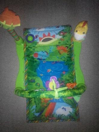 """Продам развивающий детский коврик """"Джунгли"""" , 6м + музыкальный две игрушки, рыбк. Каменское, Днепропетровская область. фото 3"""