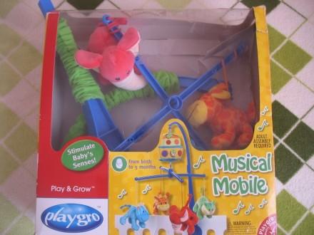 Продам музыкальный мобиль-карусель Playgro Ноев Ковчег с 4 яркими мягкими игрушк. Запоріжжя, Запорізька область. фото 3