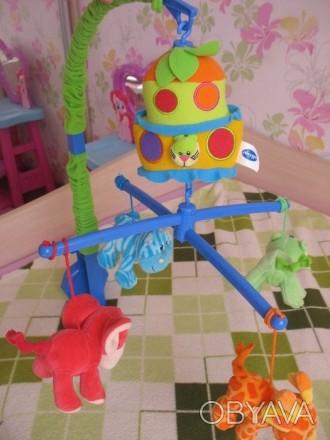 Продам музыкальный мобиль-карусель Playgro Ноев Ковчег с 4 яркими мягкими игрушк. Запоріжжя, Запорізька область. фото 1