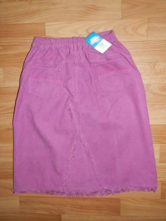 Продам стильную удлинённую вельветовую юбку Adams р.140. Украшена вышитыми аппли. Южний, Одеська область. фото 4