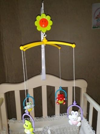Продам мобиль на кроватку для малыша в отличном состоянии на 5+!Все работает!В к. Луганск, Луганская область. фото 2