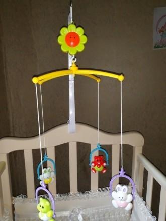 Продам мобиль на кроватку для малыша в отличном состоянии на 5+!Все работает!В к. Луганск, Луганская область. фото 3