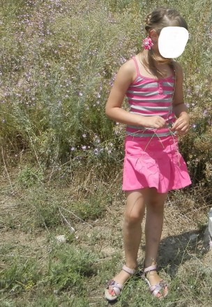 Короткая летняя юбочка в складку George р.128-135 из мягенького, тонкого микрове. Южний, Одеська область. фото 4