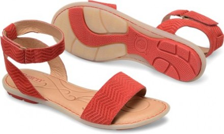 Босоножки Born Tegal Sandals. Цвет красный. Замша. Размер 9 (39). Киев. фото 1