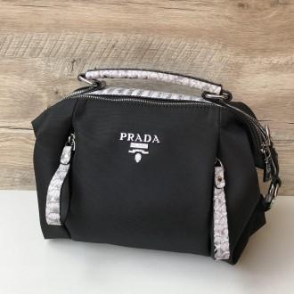 Стильная женская сумка Prada плащевка  Фурнитура: серебро  Сумочка имеет два. Одесса, Одесская область. фото 13