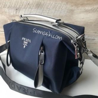 Стильная женская сумка Prada плащевка  Фурнитура: серебро  Сумочка имеет два. Одесса, Одесская область. фото 8