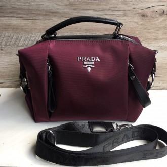 Стильная женская сумка Prada плащевка  Фурнитура: серебро  Сумочка имеет два. Одесса, Одесская область. фото 12