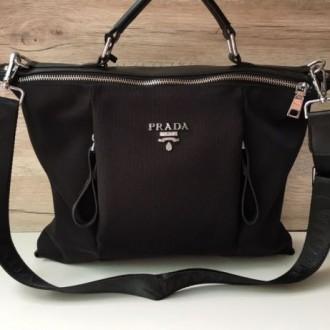 Стильная женская сумка Prada плащевка  Фурнитура: серебро  Сумочка имеет два. Одесса, Одесская область. фото 4