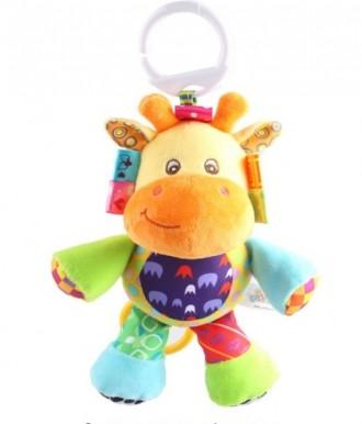 Плюшевая музыкальная подвеска жирафик для вашего малыша. Кременчуг. фото 1