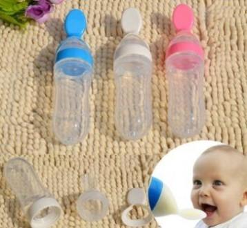 Бутылочка с ложкой для кормления вашего малыша. Кременчуг. фото 1