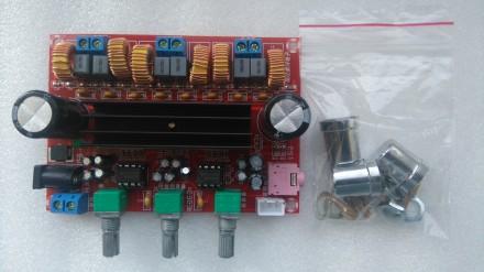 Цифровой Усилитель мощности звука TPA3116D2 50Wx2 + 100 Вт 2.1. Переяслав-Хмельницкий. фото 1