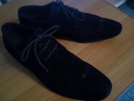 Отличные замшевые туфли коричневый насыщенный цвет 43 размер, немного полномерки. Чернігів, Чернігівська область. фото 4