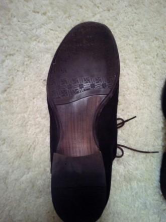 Отличные замшевые туфли коричневый насыщенный цвет 43 размер, немного полномерки. Чернігів, Чернігівська область. фото 9