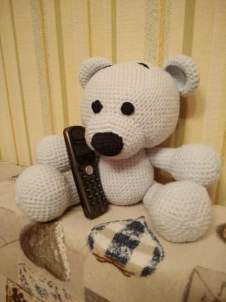 Мишка вязаный крючком, игрушка, подарок, амигуруми. Киев. фото 1