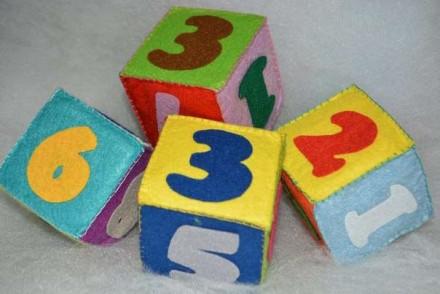 Кубики с цифрами, из фетра, ручная работа.. Вінниця. фото 1
