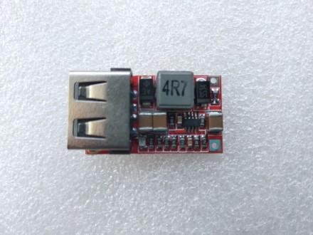Преобразователь напряжения понижающий 6-24 V на 5 вольт 3 A USB выход. Переяслав-Хмельницкий. фото 1