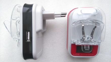 Зарядное устройство / Адаптер зарядка Жабка LCD USB. Переяслав-Хмельницкий. фото 1