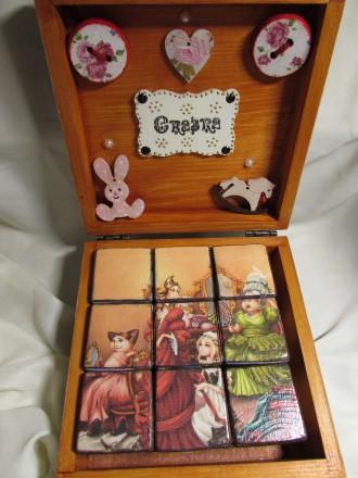 Набор кубиков декорирован картинками из двух всеми любимыми сказок .Красочные ку. Измаил, Одесская область. фото 4