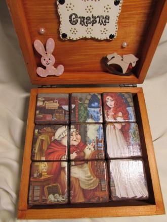 Набор кубиков декорирован картинками из двух всеми любимыми сказок .Красочные ку. Измаил, Одесская область. фото 7