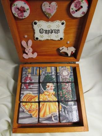 Набор кубиков декорирован картинками из двух всеми любимыми сказок .Красочные ку. Измаил, Одесская область. фото 5