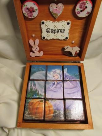 Набор кубиков декорирован картинками из двух всеми любимыми сказок .Красочные ку. Измаил, Одесская область. фото 8