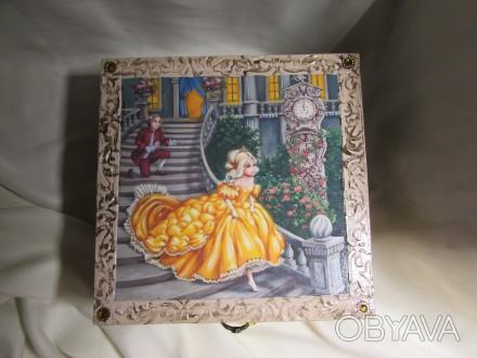 Набор кубиков декорирован картинками из двух всеми любимыми сказок .Красочные ку. Измаил, Одесская область. фото 1