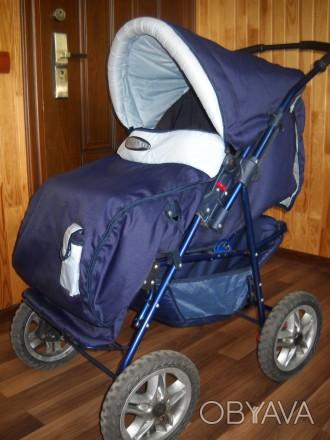 Детская коляска трансформер в отличном состоянии.. Сумы, Сумская область. фото 1