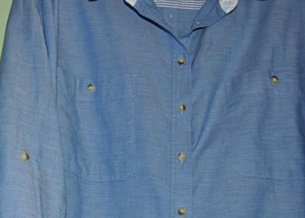 Фирменная, красивая и качественная рубашка F&F.  100% хлопок.  р. UK12. Пр. Ба. Черновцы, Черновицкая область. фото 4