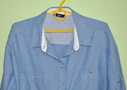 Фирменная, красивая и качественная рубашка F&F.  100% хлопок.  р. UK12. Пр. Ба. Черновцы, Черновицкая область. фото 3