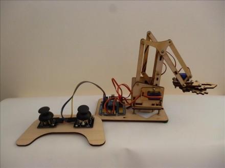 конструктор развивающий, MeArm робот манипулятор, отличный подарок.. Киев. фото 1