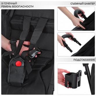 Прогулочная коляска Bambi Yoga M 3548 оснащена пятиточечными ремнями безопасност. Одесса, Одесская область. фото 12