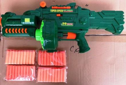 Пулемет с мягкими пулями Штурм Болтер типа Nerf 7002 Limo Toy. Харьков. фото 1