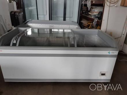 Холодильное оборудование: морозильные лари б/у, витрины, шкафы, регалы.Каменское