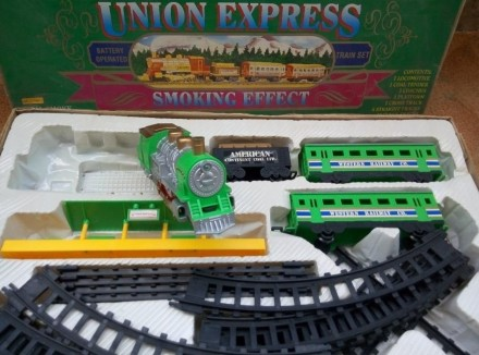 Игрушечная железная дорога union express smoking effect. Днепр. фото 1