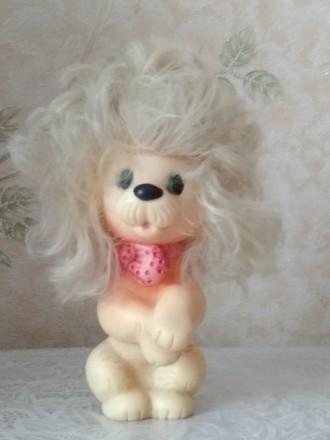 Собака (пудель) резиновая. Миколаїв. фото 1