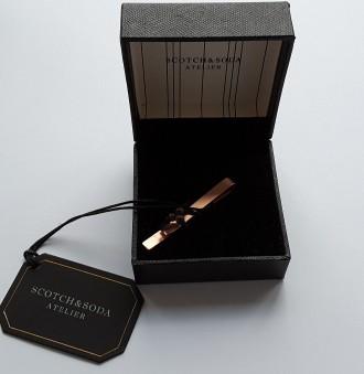 Стильный зажим для галстука от scotch&soda, 5,5 см, нидерланды. Полтава. фото 1