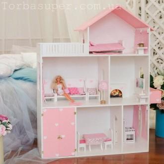 Деревянный кукольный домик для детей, 110*90*30. Днепр. фото 1