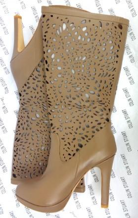 Сапоги эксклюзивные кожаные женские Colin Stuart (Б – 326) 41 - 42 размер  Кож. Херсон, Херсонская область. фото 3