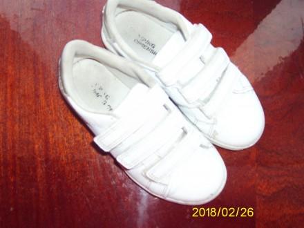 Кроссовки на липучках белые. Лубны. фото 1