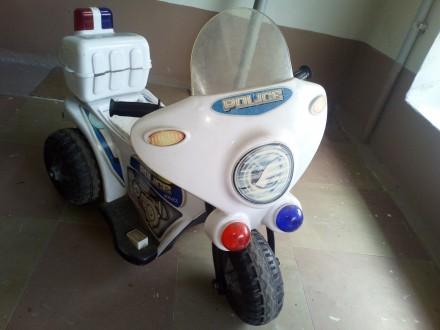 Продам детский электромотоцикл белый. Днепр. фото 1