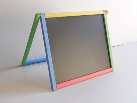 Доска для рисования двухсторонняя магнитная крашеная. Запорожье. фото 1