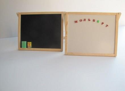 Доска для рисования двухсторонняя раскладная магнитная. Запорожье. фото 1