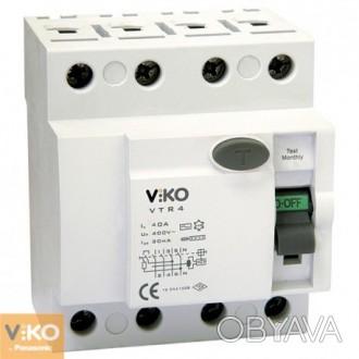 УЗО (4x25 А, 30 mА, АC) Viko VTR4-2530 Состояние:Новый товар  Номинальное на. Полтава, Полтавская область. фото 1