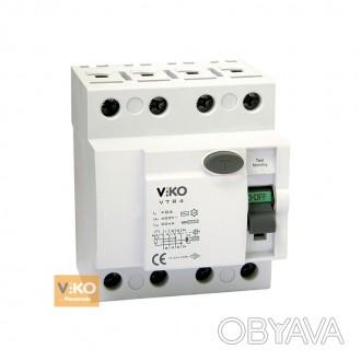 УЗО (4x40 А, 30 mА, АC) Viko VTR4-4030  Состояние:Новый товар  Номинальное . Полтава, Полтавская область. фото 1