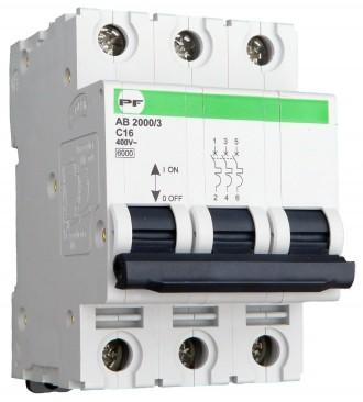 Автоматический выключатель Standart AB2000 3р С16А 6кА. Полтава. фото 1